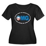 OMG Women's Plus Size Scoop Neck Dark T-Shirt