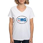 OMG Women's V-Neck T-Shirt
