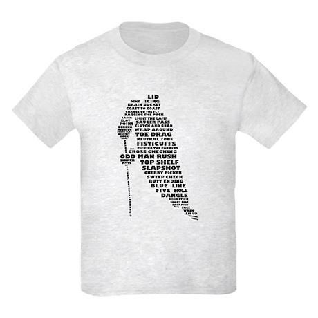 Language of Hockey (skater) Kids Light T-Shirt