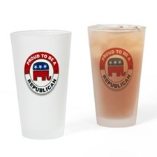Cute Proud to be a republican Drinking Glass