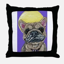 French Bulldog Smile Throw Pillow