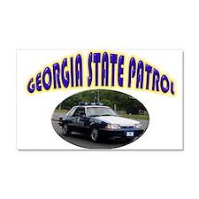 Georgia State Patrol Car Magnet 20 x 12