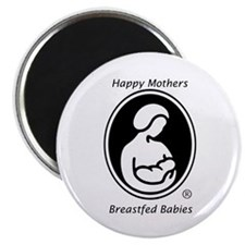 """Happy Mothers, Breastfed Babies 2.25"""" Magnet"""