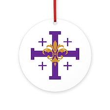 Jerusalem Cross Ornament (Round)