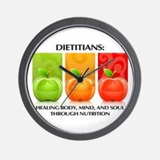 Cute Dietitians healing body mind and soul Wall Clock