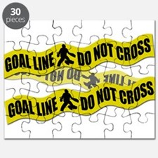 Field Hockey Crime Tape Puzzle