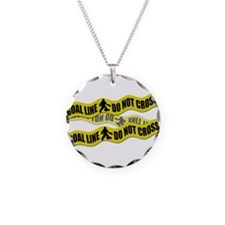 Field Hockey Crime Tape Necklace