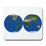 World Map Double Sphere: Mousepad