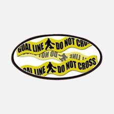 Field Hockey Crime Tape Patches