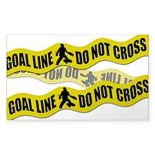 Field Hockey Crime Tape Decal