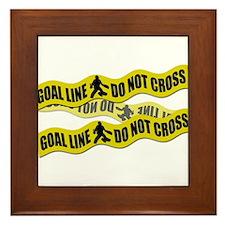 Field Hockey Crime Tape Framed Tile