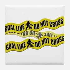 Field Hockey Crime Tape Tile Coaster