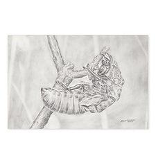 graphite cicada exoskeleton Postcards (Package of