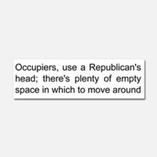 Empty headed republicans Car Magnet 10 x 3