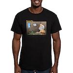 You Found Land! Men's Fitted T-Shirt (dark)