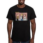 Jesus is Watching Men's Fitted T-Shirt (dark)