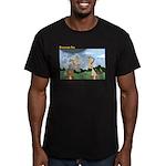Poor Job Men's Fitted T-Shirt (dark)