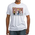 Jesus is Watching Fitted T-Shirt