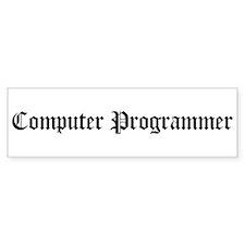 Computer Programmer Bumper Bumper Sticker
