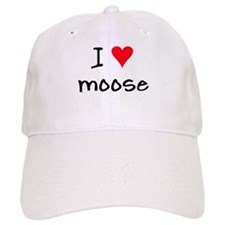 I LOVE Moose Baseball Cap
