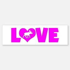 LOVE MOOSE Bumper Bumper Sticker