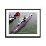 USS LA JOLLA Framed Panel Print
