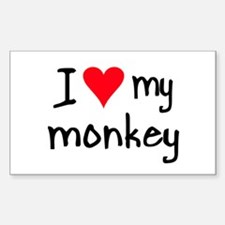 I LOVE MY Monkey Decal