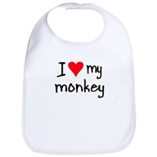 I LOVE MY Monkey Bib