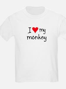 I LOVE MY Monkey T-Shirt