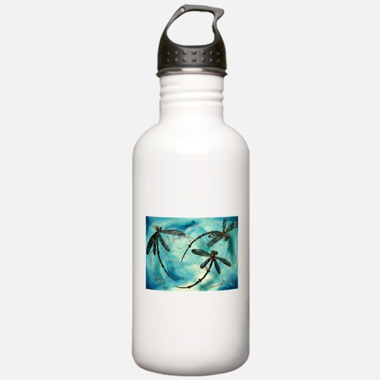 Dragonfly Cloud Sports Water Bottle