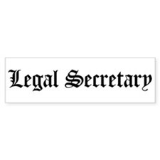 Legal Secretary Bumper Bumper Sticker