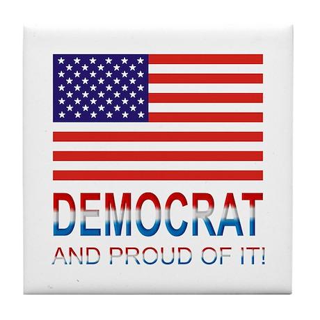 Democrat Tile Coaster
