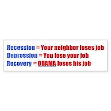 """No Obama """"Obamanomics"""" - Bumper Bumper Sticker"""