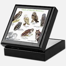Owls of North America Keepsake Box