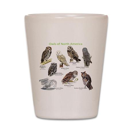 Owls of North America Shot Glass