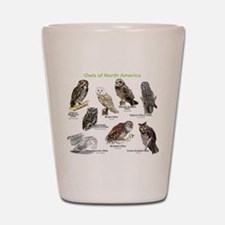 Owls of North America Shot Glass