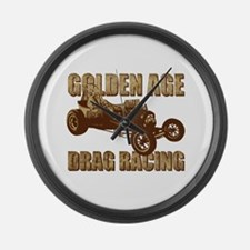 Golden Age Drag Race Altered Large Wall Clock