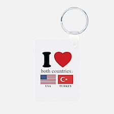 USA-TURKEY Keychains