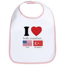 USA-TURKEY Bib