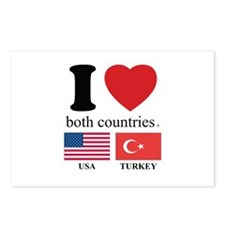 USA-TURKEY Postcards (Package of 8)