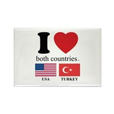USA-TURKEY Rectangle Magnet