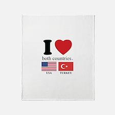 USA-TURKEY Throw Blanket
