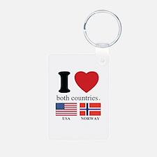 USA-NORWAY Keychains