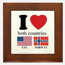 USA-NORWAY Framed Tile