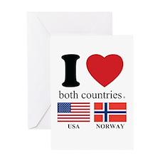 USA-NORWAY Greeting Card