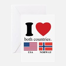 USA-NORWAY Greeting Card