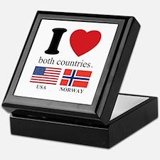 USA-NORWAY Keepsake Box