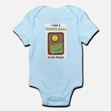 I see a Tennis Ball in my Future Infant Creeper