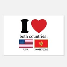 USA-MONTENEGRO Postcards (Package of 8)