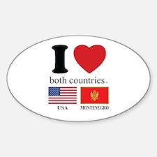 USA-MONTENEGRO Sticker (Oval)